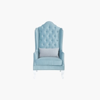 Arabesque Tufted Accent Chair with Studded Detail
