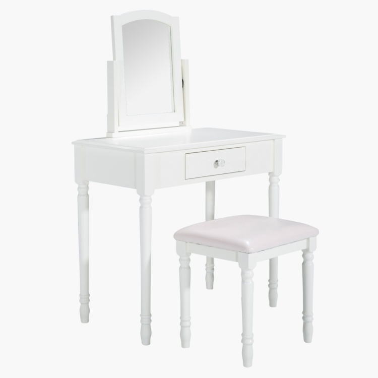 Alice's Dressing Table with Mirror and Stool