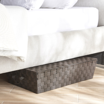 Luke Underbed Storage Basket with Lid - 61x38.1x15.2 cms