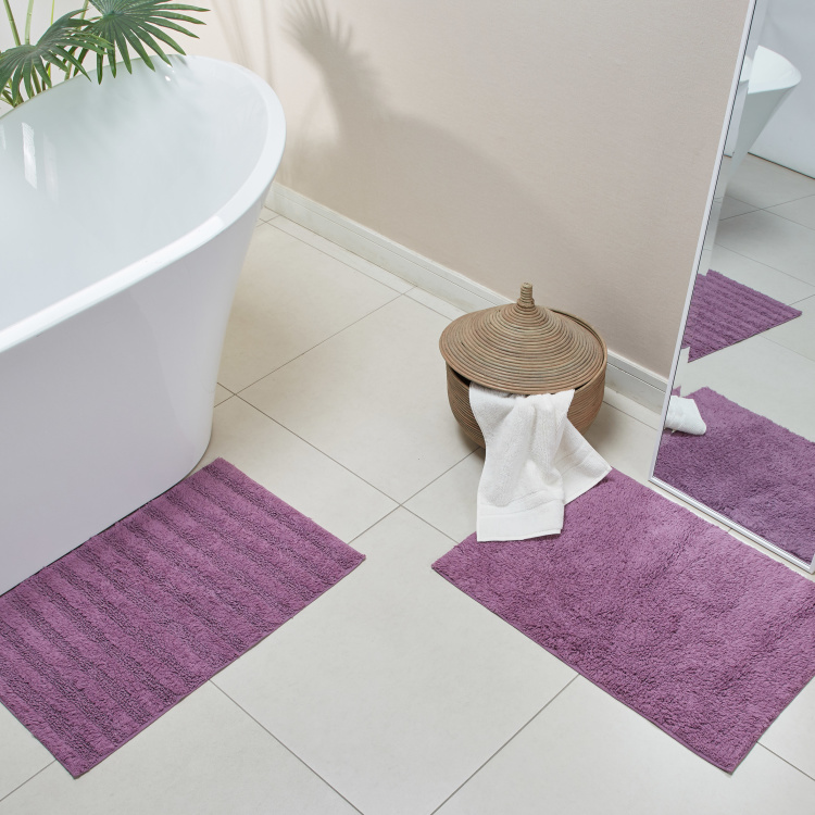 Nicole Textured Anti-Skid Bath Mat - Set of 2