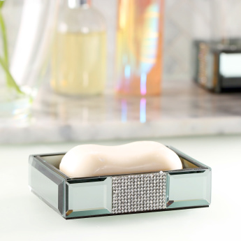 Cary Ice Flow Embellished Soap Dish