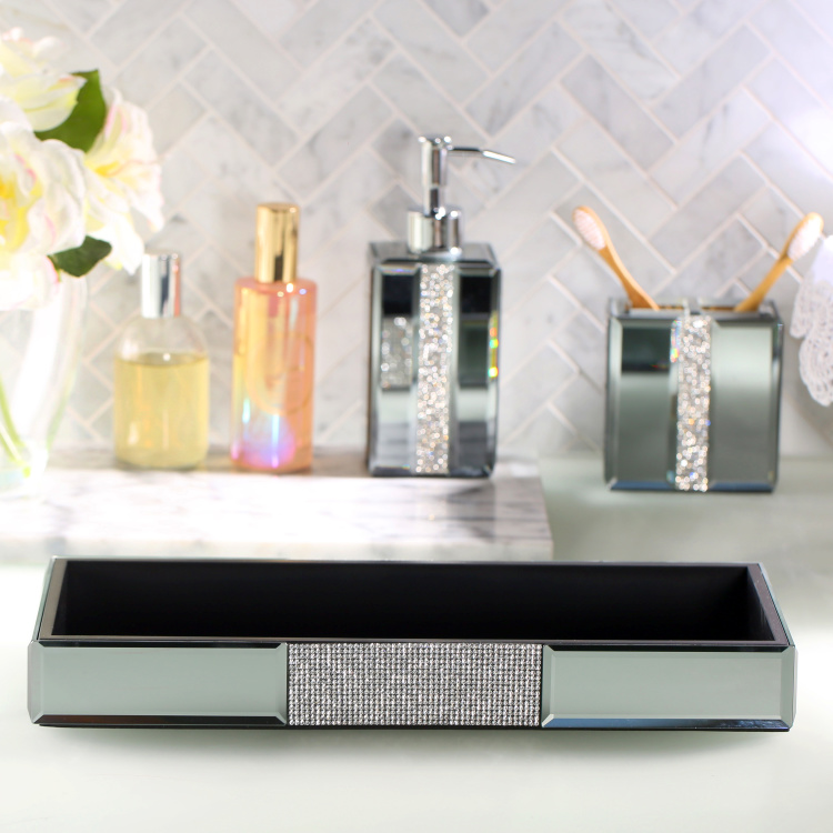 Ice Flow Embellished Towel Tray