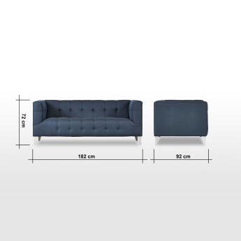 Morgan 2-Seater Tufted Sofa with Scatter Cushions