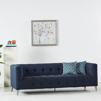 Morgan 3-Seater Tufted Sofa with Scatter Cushions