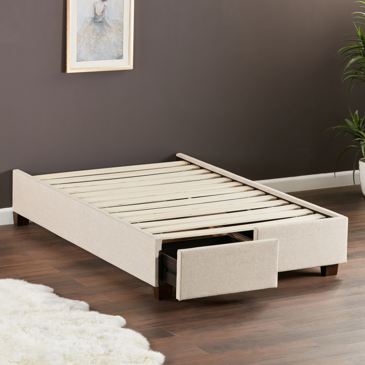 Stellar Drawer Single Bed Base - 120x200 cms
