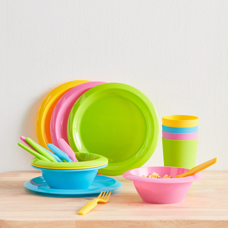 Rainbow Party 20-Piece Tableware Set