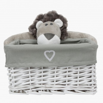Alex the Lion Wicker Basket- Large