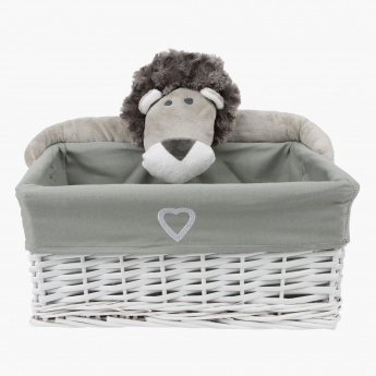 Alex the Lion Wicker Basket - Small