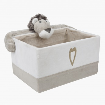Alex the Lion Rectangular Basket - Medium