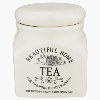 Beautiful Home Printed Tea Jar