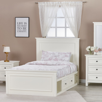 Addison Full Bed with 2-Drawers - 120x200 cms