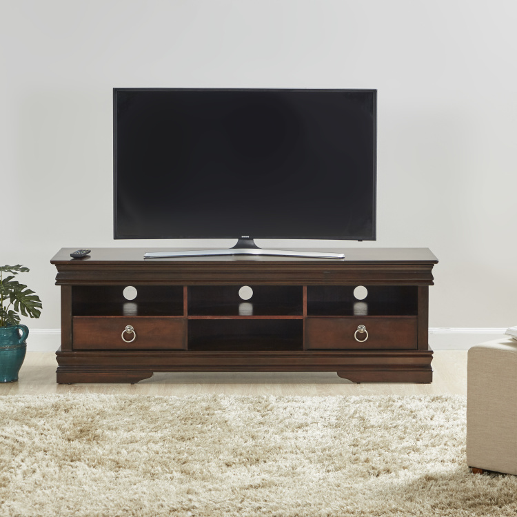 President 2-Drawer Rectangular TV Unit for TVs up to 55 inches