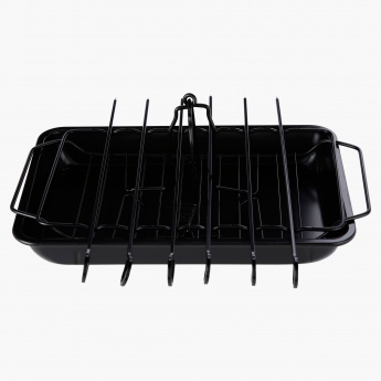 Wuyi Rectangular Baking Tray with Rack and Skewers