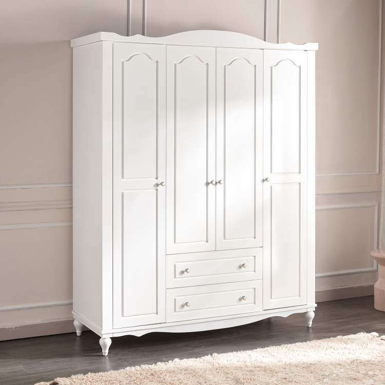 Aurora 4-Door Wardrobe with 2-Drawers