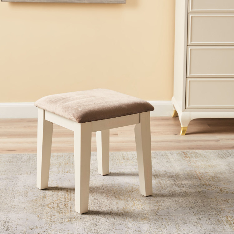 Louis Stool with Cushioned Seat