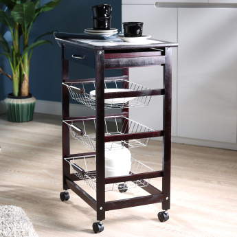 Cazo Riva 4-Tier Kitchen Trolley with Drawer
