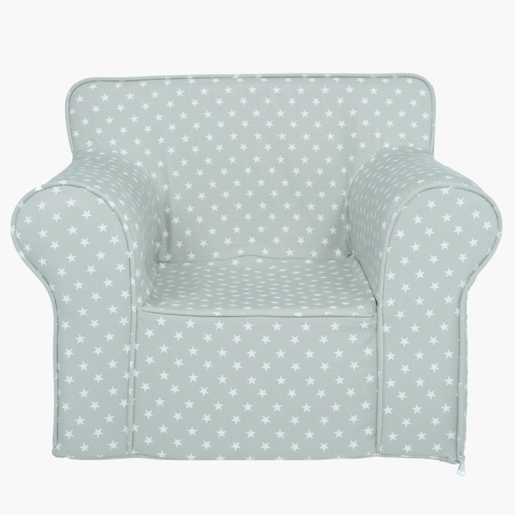 Charlie Star Printed Armchair Cover