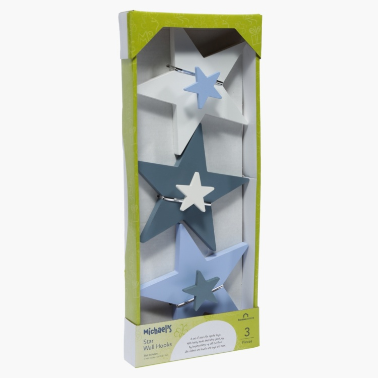 Michael's Star Wall Hook - Set of 3