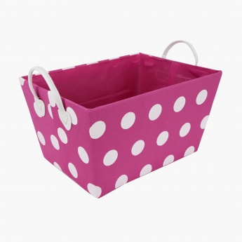 Dotty Tapered Basket with Handles