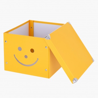 Happy Face Storage Box - 30x30x24cms