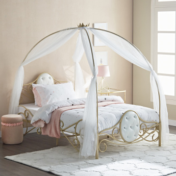 Ella Carriage Full Bed with Curtain - 120x200 cms