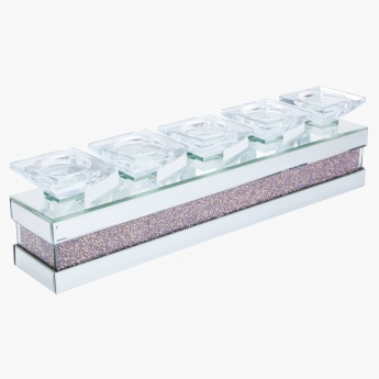 Cosmo Jewelled 5-Pillar Candle Holder Centrepiece
