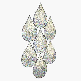 Drop Lights Mosaic Glass Art - 55.5x1x89.5 cms