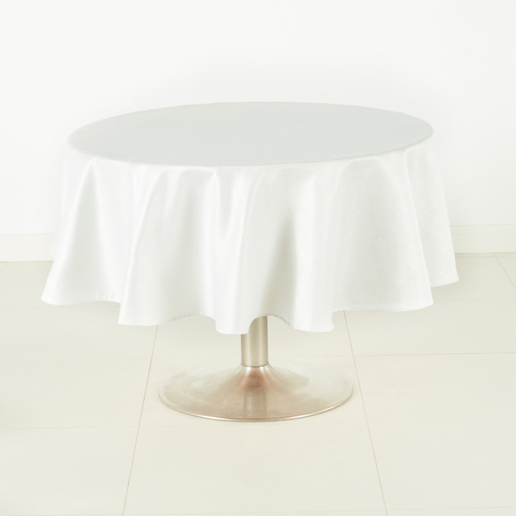 Glitz Textured Round Table Cover