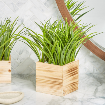Grass Artificial Plant with Vase - 32 cms