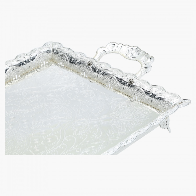 Bisha Serving Tray with Handle - 47.5x33x8 cms