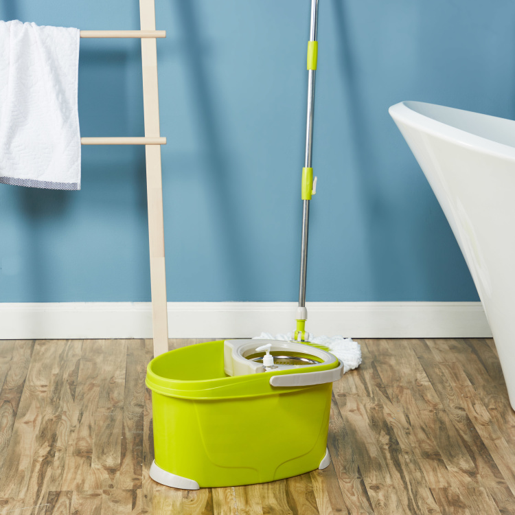 Walkable Mop Bucket with 2 Mop Heads