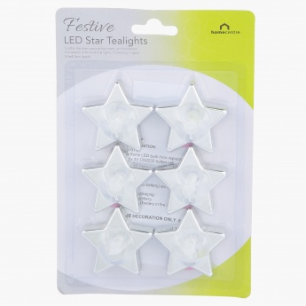 Star LED Tealights – Set of 6