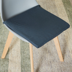 Kraft Square Chair Pad with Tie Ups