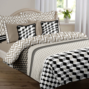Geometrix 3-Piece Duvet Cover Set - 260x220 cms