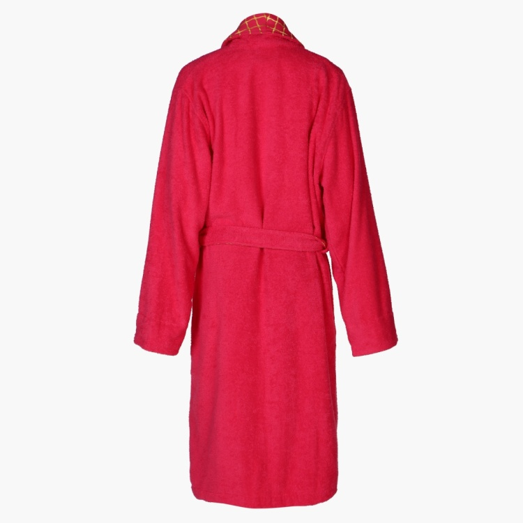 Long Sleeves Bathrobe with Tie Up - Large