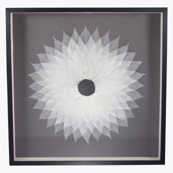 Dried Sun Shadow Box - 80x6x80 cms