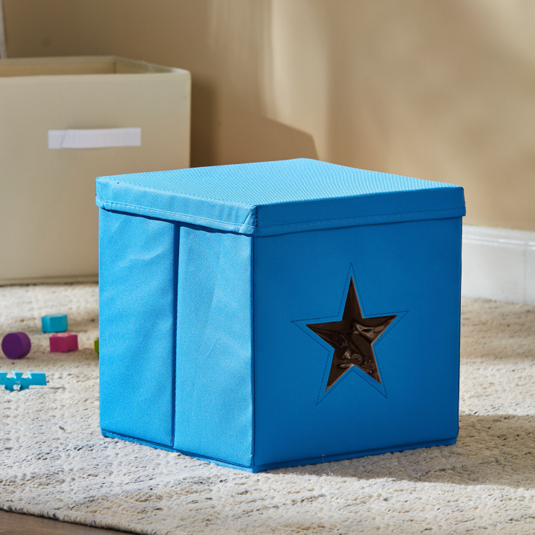 Star Cut Out Storage Box with Lid