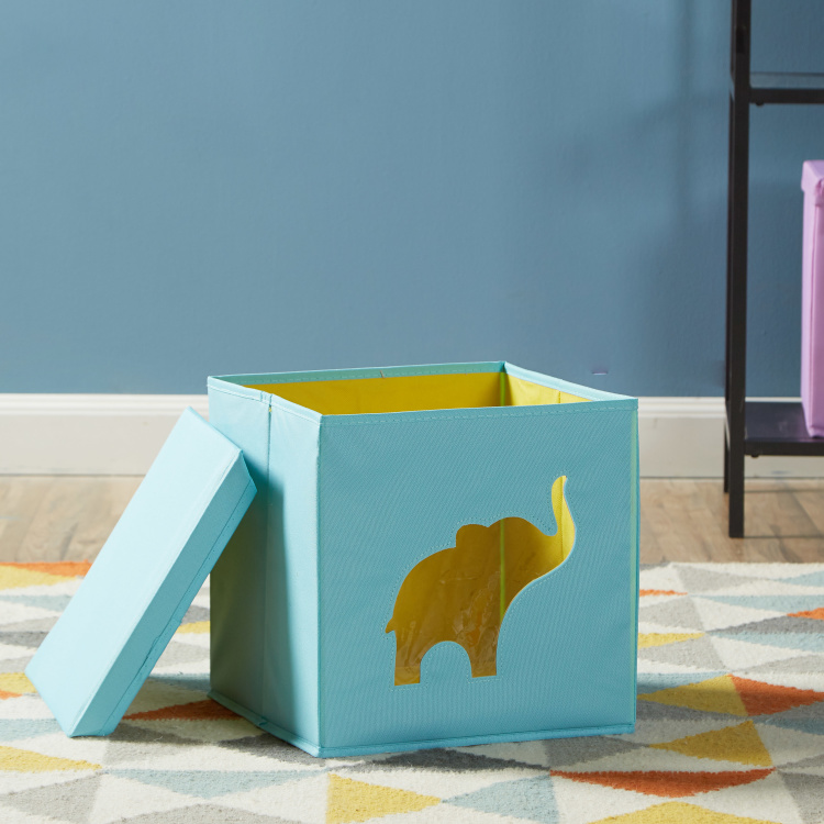 Elephant Cut Out Storage Box with Lid
