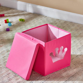 Crown Cut-Out Storage Box with Lid