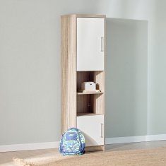 Bradley's Single Standing Shelf Unit with 2-Door Cabinets