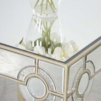 Mystique Mirrored End Table
