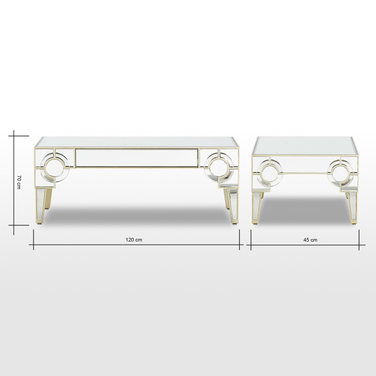 Mystique Mirrored Coffee Table