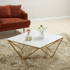 Lunar Coffee Table with Marble Top