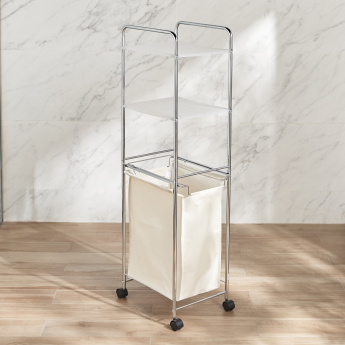 Laundry Hamper with 2 Shelves