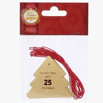 25th December Gift Wrap Tag - Set of 10