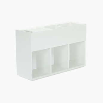 Eterno Glossy End Unit with Storage