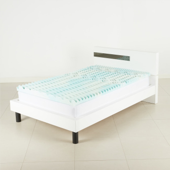 Sculpted Comfort Gel Memory Foam Mattress Topper - 90x200 cms