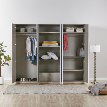 Crescent 6-Door Wardrobe