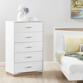 Crescent Chest of 5-Drawers