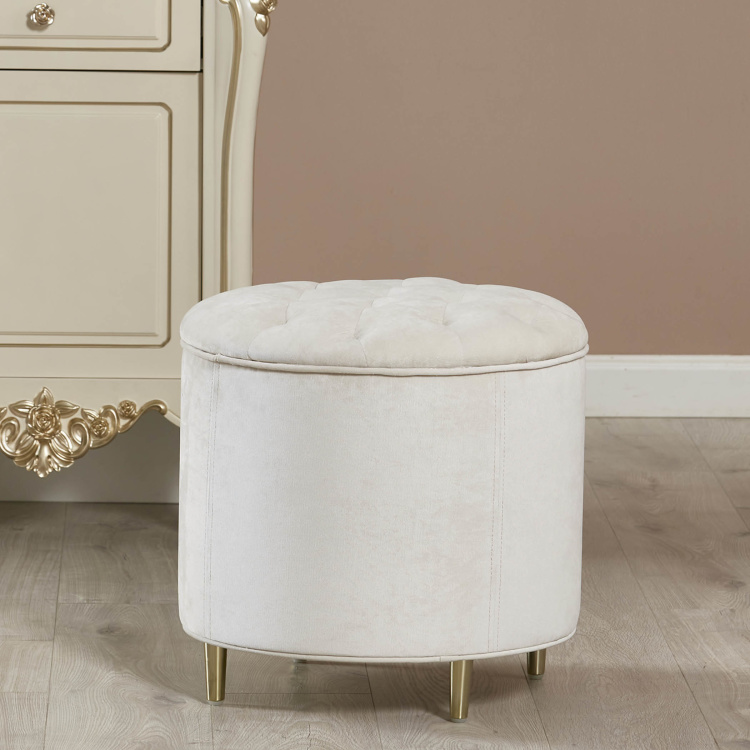 Adele Tufted Faux Leather Stool